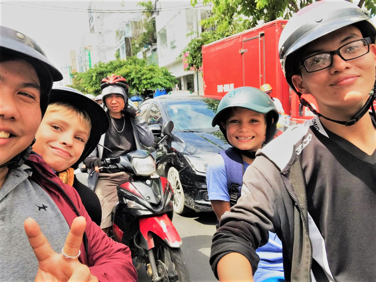 It is so exciting for children join Saigon Motorbike Tour